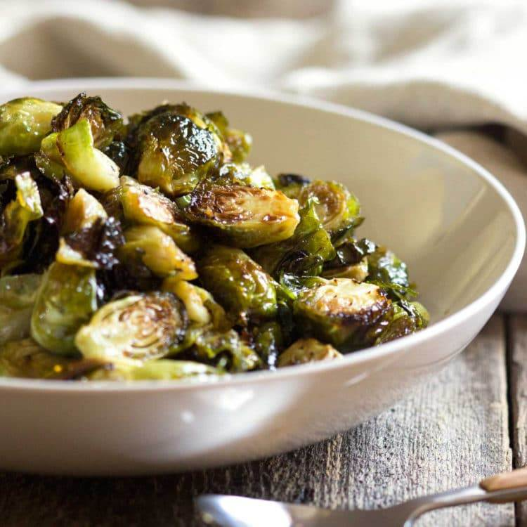Honey Balsamic Roasted Brussels Sprouts – Kevin Is Cooking